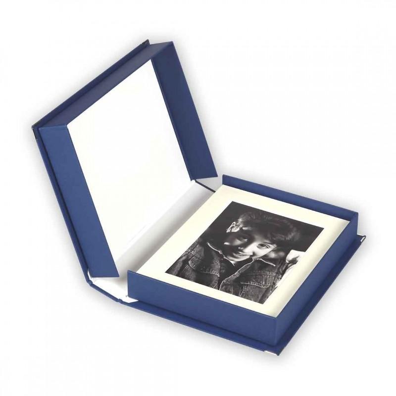 "Scatola Portafoto ""CLASSIC"" Blu 40x50"