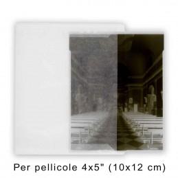 """Buste in pergamino formato 4x5"""" (10x12 cm) - Confez. 100 pz."""