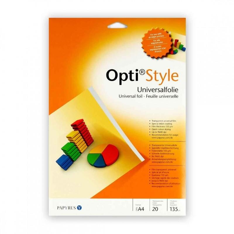 OPTI STYLE Formato A4 - Conf. 20 fogli