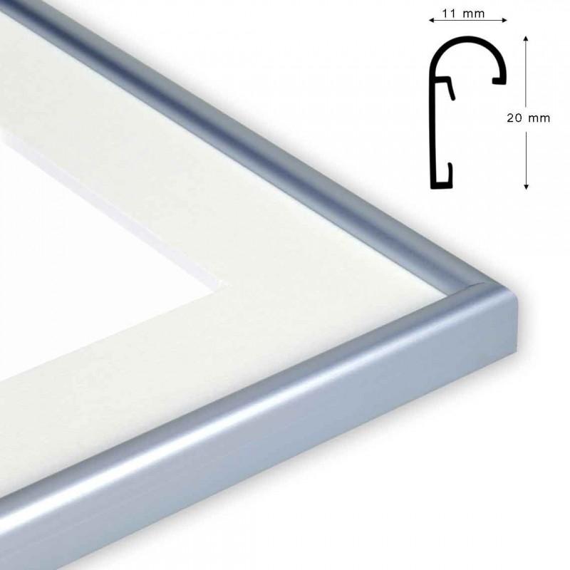 Cornice N/STAR formato 18x24 Colore alluminio
