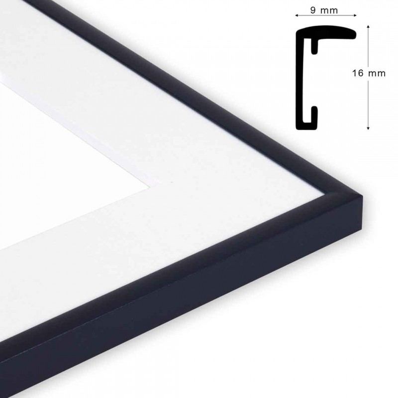 Cornice S/STAR formato 24x30 Colore nero satinato