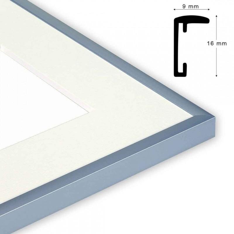 Cornice S/STAR formato 50x60 Colore alluminio