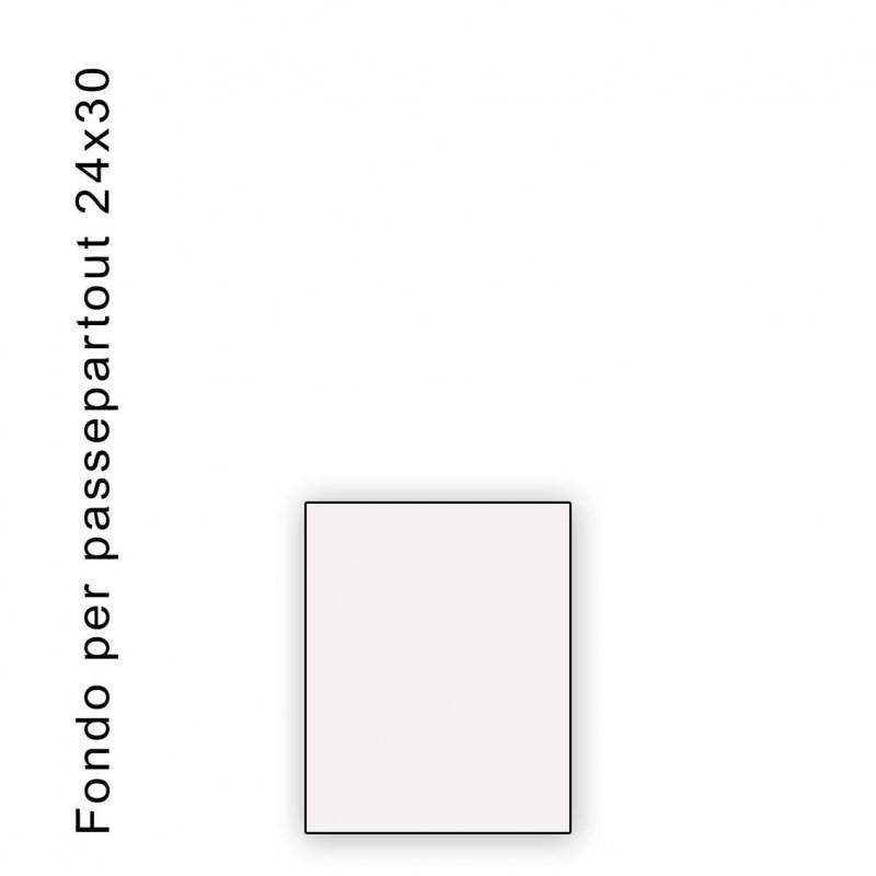 Fondo bianco misura 24x30 - spessore 1,3 mm