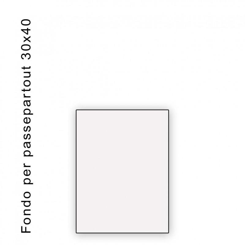 Fondo bianco misura 30x40 - spessore 1,3 mm