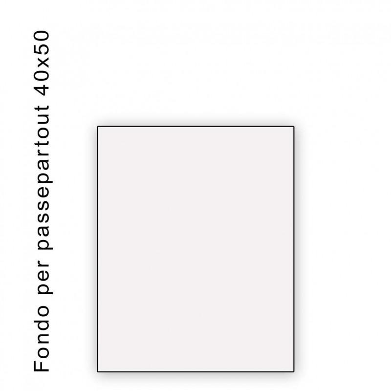Fondo bianco misura 40x50- spessore 1,3 mm