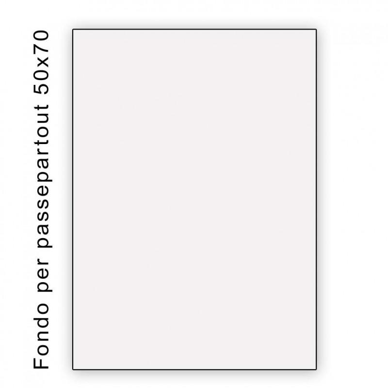 Fondo bianco misura 50x70- spessore 1,3 mm