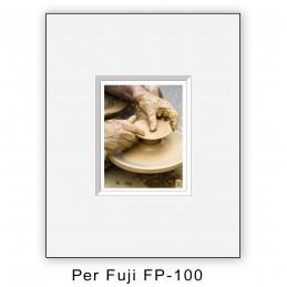 Passep. x Fuji FP100 foro centrato - 10 pezzi