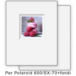 Passep. x Polaroid 600/SX70 foro decentrato con fondi - 8 pezzi