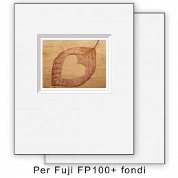 Passep. x Fuji FP100 foro decentrato con fondi - 10 pezzi