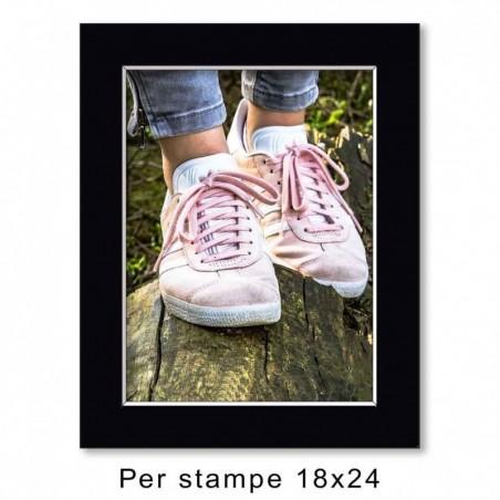 Passep. 24x30 per stampe 18x24 Nero (sp. 1,3 mm)
