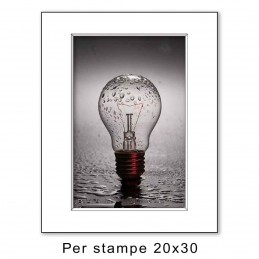 Passep. 30x40 per stampe 20x30, Bianco (sp. 1,3 mm)