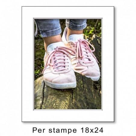 Passep. 24x30 per stampe 18x24 Bianco (sp. 1,3 mm)