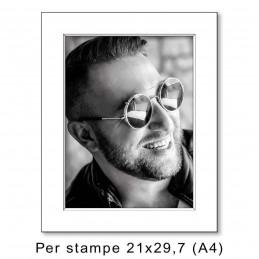 Passep. 30x40 per stampe A4/21x29,7, Bianco (sp. 1,3 mm)