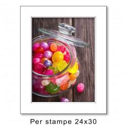 Passep. 30x40 per stampe 24x30, Bianco (sp. 1,3 mm)