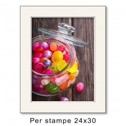 Passep. 30x40 per stampe 24x30, Avorio (sp. 1,3 mm)