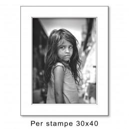 Passep. 40x50 per stampe 30x40, Bianco (sp. 1,3 mm)