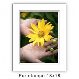 Passep. 18x24 per stampe 13x18 Bianco (sp. 2,8 mm)