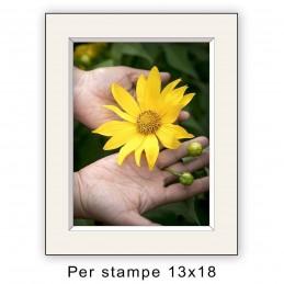 Passep. 18x24 per stampe 13x18 Avorio (sp. 2,8 mm)