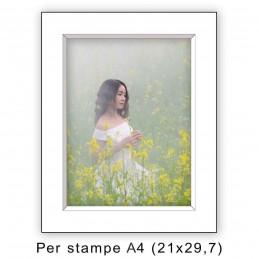 Passep. 30x40 per stampe A4 / 21x29,7 Bianco (sp. 2,8 mm)