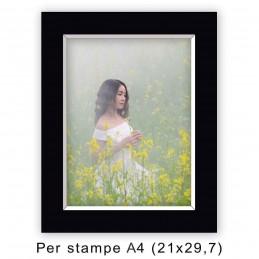 Passep. 30x40 per stampe A4 / 21x29,7 Nero (sp. 2,8 mm)
