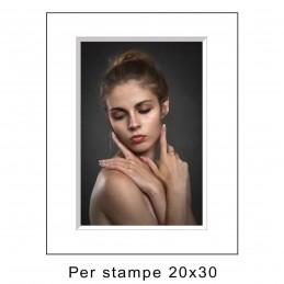 Passep. 30x40 per stampe 20x30 Bianco (sp. 2,8 mm)