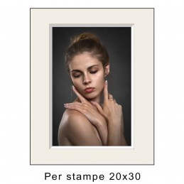 Passep. 30x40 per stampe 20x30 Avorio (sp. 2,8 mm)