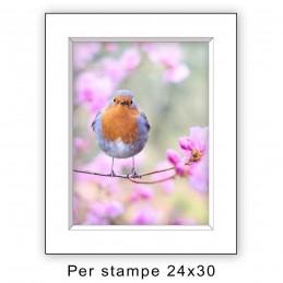 Passep. 30x40 per stampe 24x30 Bianco (sp. 2,8 mm)