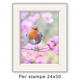 Passep. 30x40 per stampe 24x30 Avorio (sp. 2,8 mm)