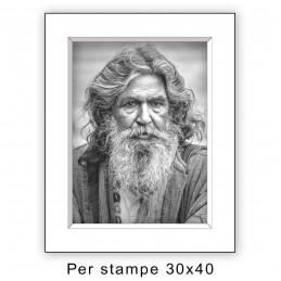 Passep. 40x50 per stampe 30x40 Bianco (sp. 2,8 mm)