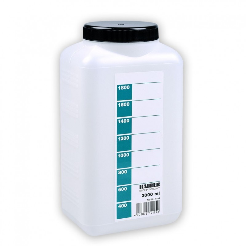 Bottiglia bianca per chimici da 2 Litri - Kaiser