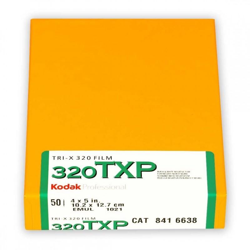 """KODAK TRI-X 320 Pell. piana 4x5"""" da 50 fogli"""