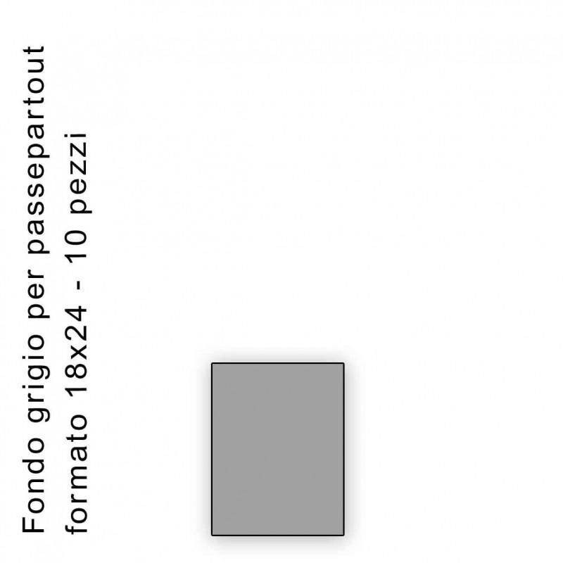 Fondo grigio misura 18x24 Confezione 10 pezzi