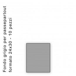 Fondo grigio misura 24x30 Confezione 10 pezzi