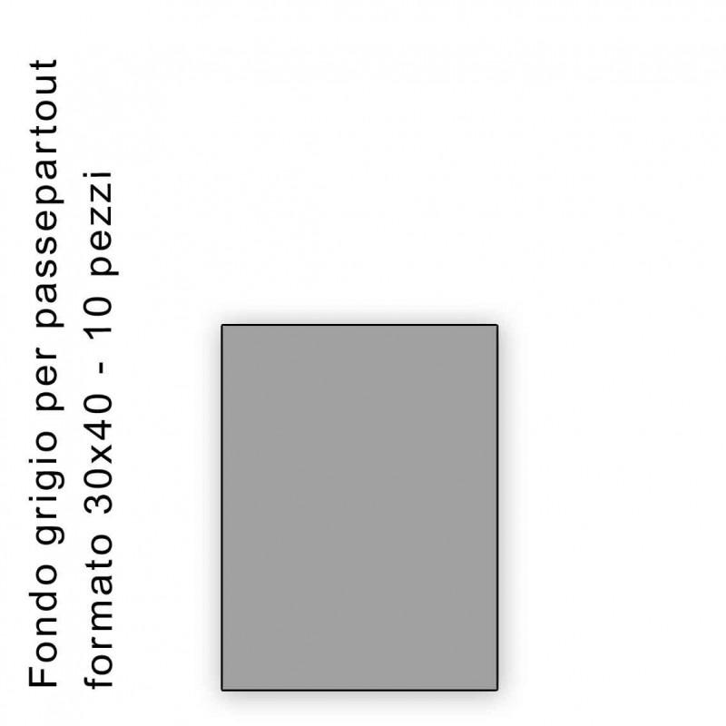 Fondo grigio misura 30x40 Confezione 10 pezzi