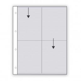 Fogli in pergamino 4 tasche 10x15 - Confez. 25 fogli