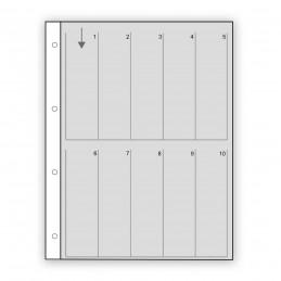 Fogli in pergamino per pellicole 135 a 4 fotogrammi - Confez. 25 fogli