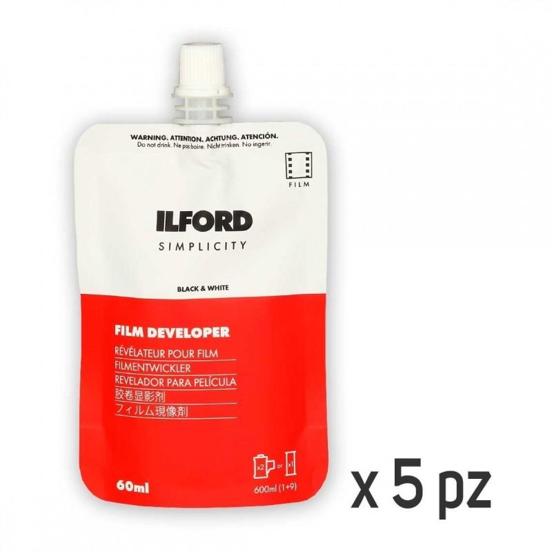 ILFORD SIMPLICITY Sviluppo negativo BN Monouso 5x60 ml