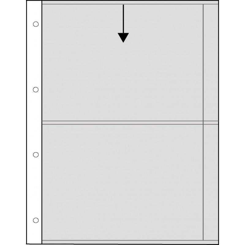 Fogli in pergamino 2 tasche 13x18 - Confez. 25 fogli