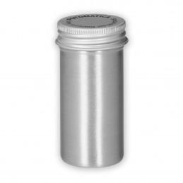 Contenitore in alluminio con tappo a vite per pellicola 120.