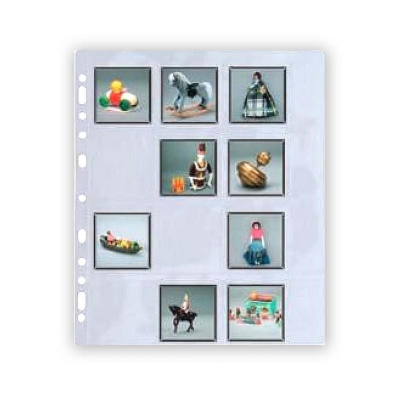 "Buste ""TAURUS"" per 12 diapositive 6x6 senza telaietto - Confez. 25 fogli (Svar)"