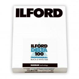"""ILFORD DELTA 100 PELL. PIANA 4""""x5"""" - 100 fogli"""