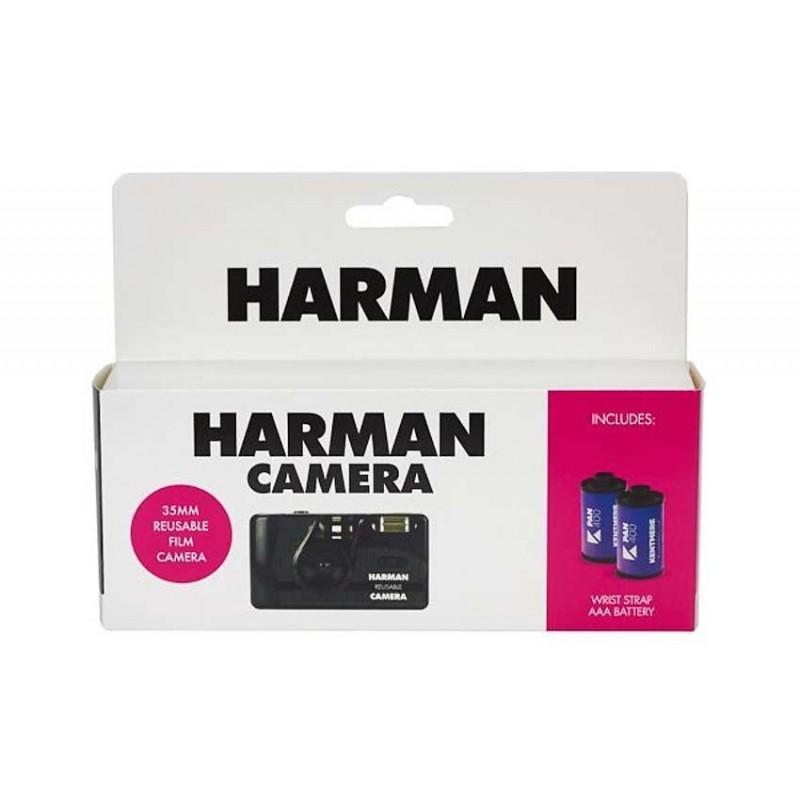 HARMAN Fotocamera riutilizzabile, con flash + 2 pell. Kentmere 400 135/36