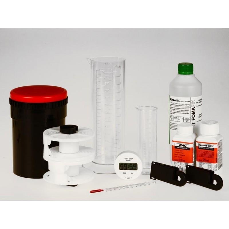 Kit Sviluppo Pellicole con chimici Compard e Foma
