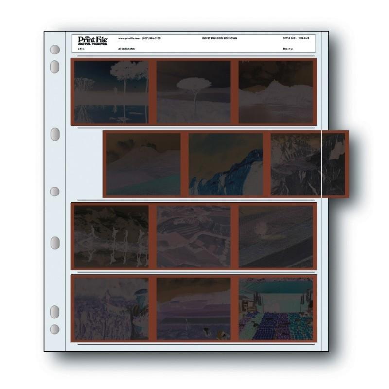 Printfile - Fogli archiviazione per pellicole 120 - Confez. 100 fogli