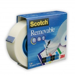 SCOTCH 3M Nastro Adesivo removibile 19 mm x 32,9 m.