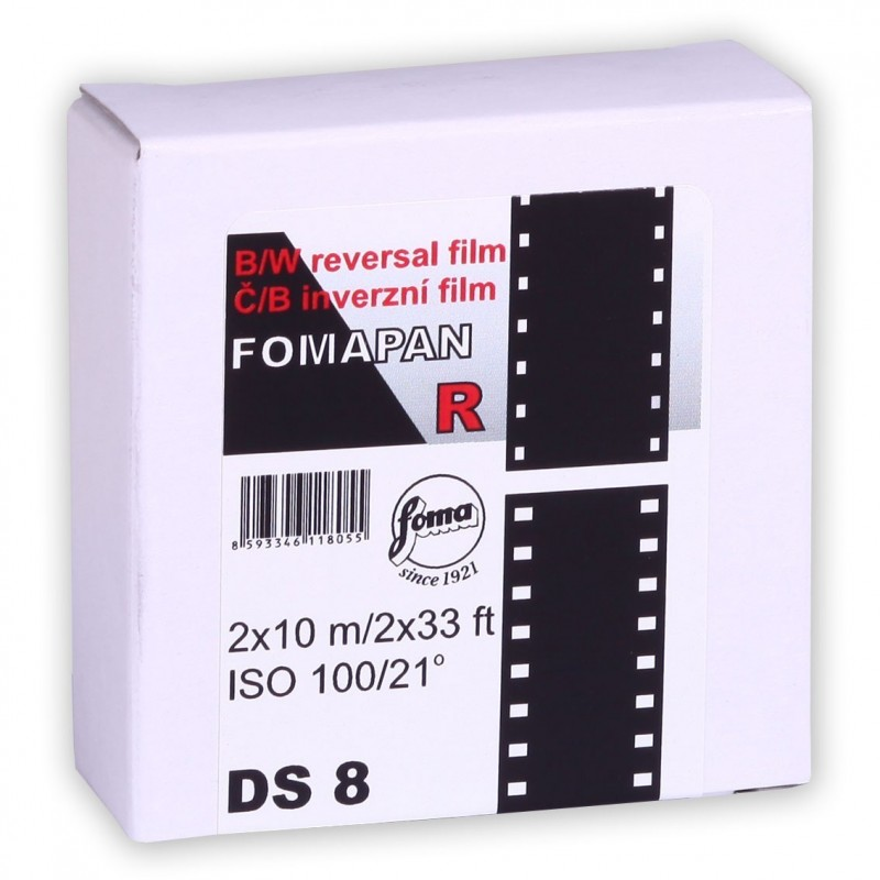 FOMAPAN R 100 DS8 (2xSuper 8 mm) bobina da 10m