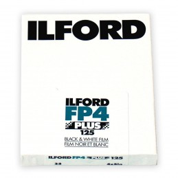 "ILFORD FP4 PLUS PELL. PIANA 4""x5"" - 25 fogli"