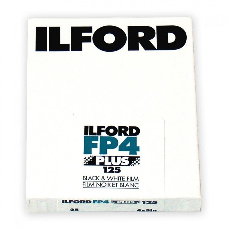 """ILFORD FP4 PLUS PELL. PIANA 4""""x5"""" - 25 fogli"""