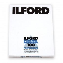 """ILFORD DELTA 100 PELL. PIANA 4""""x5"""" - 25 fogli"""
