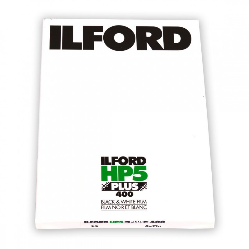 "ILFORD HP5 PLUS PELL. PIANA 5""x7"" - 25 fogli"